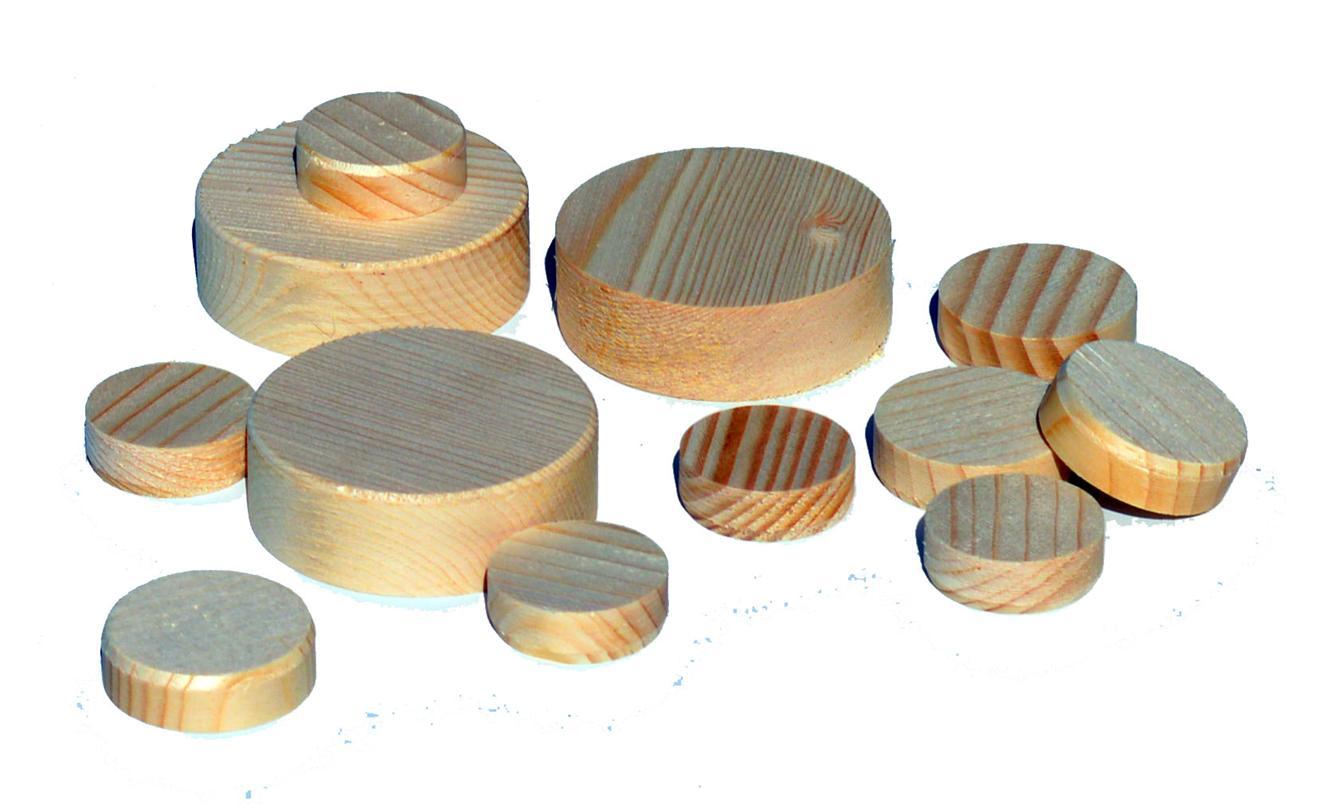 Tappi in legno lungo vena