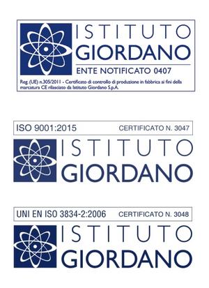 Certificazioni Soltech